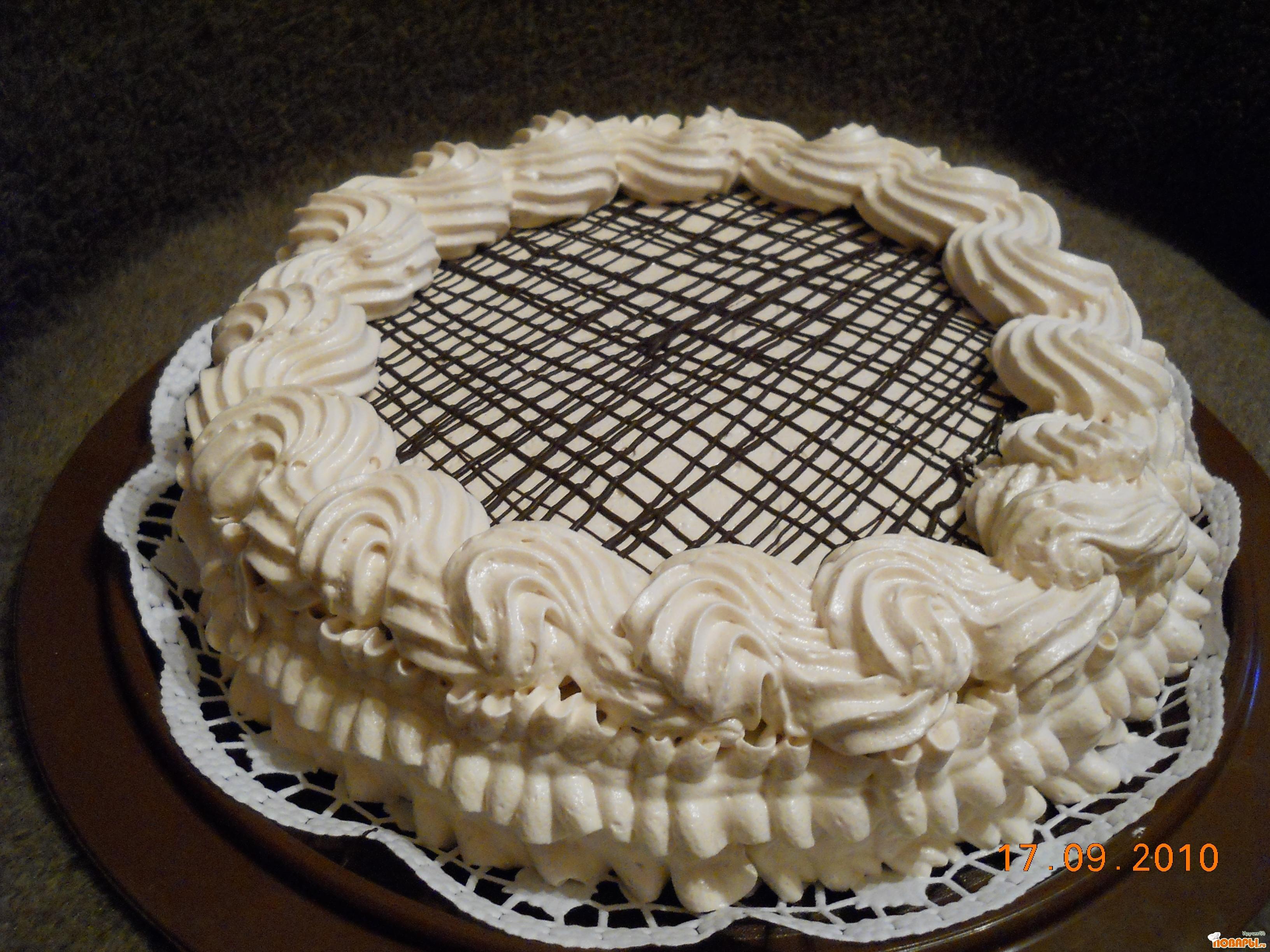 Рецепт Нежный шоколадно-кофейный тортик