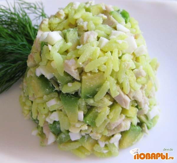 Рецепт Салат с индейкой и авокадо