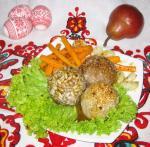 Мясные шарики с карамелизованной морковью и медовым соусом