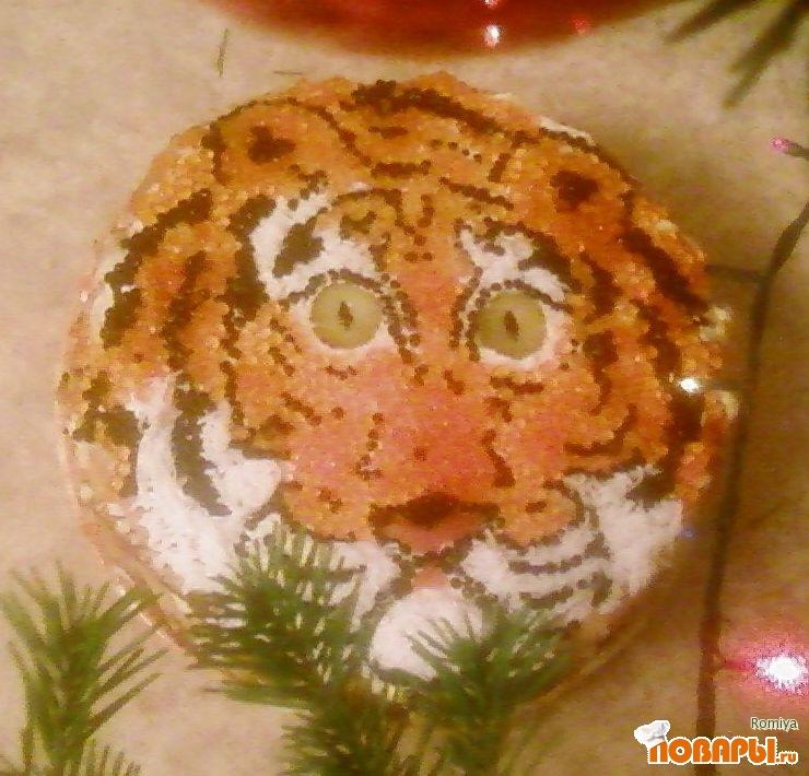 """Рецепт Блинный торт """"Талисман года Тигра"""""""