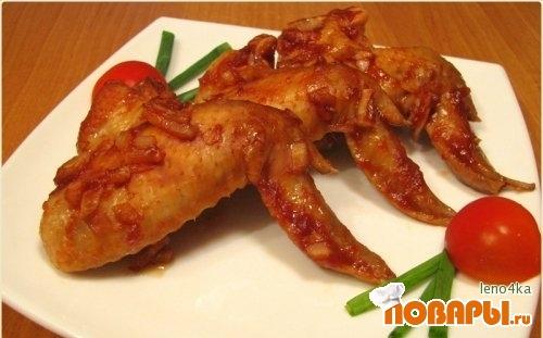 Рецепт Куриные крылышки в томатной пасте