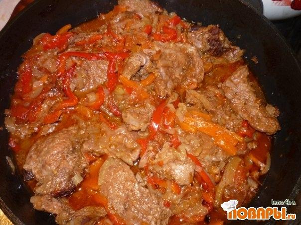 Рецепт Говядина со сладким перцем