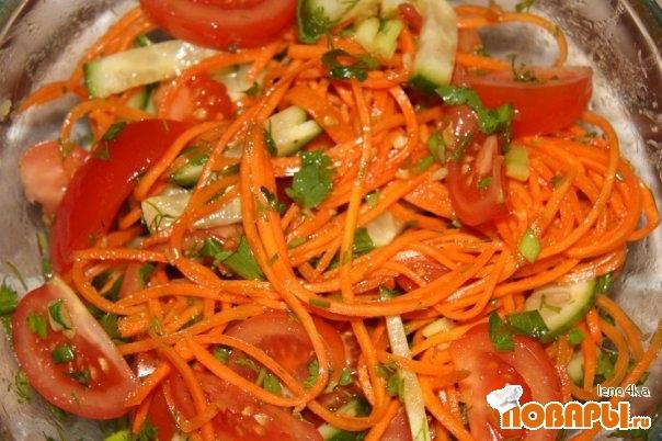 Рецепт Салат с корейской морковкой