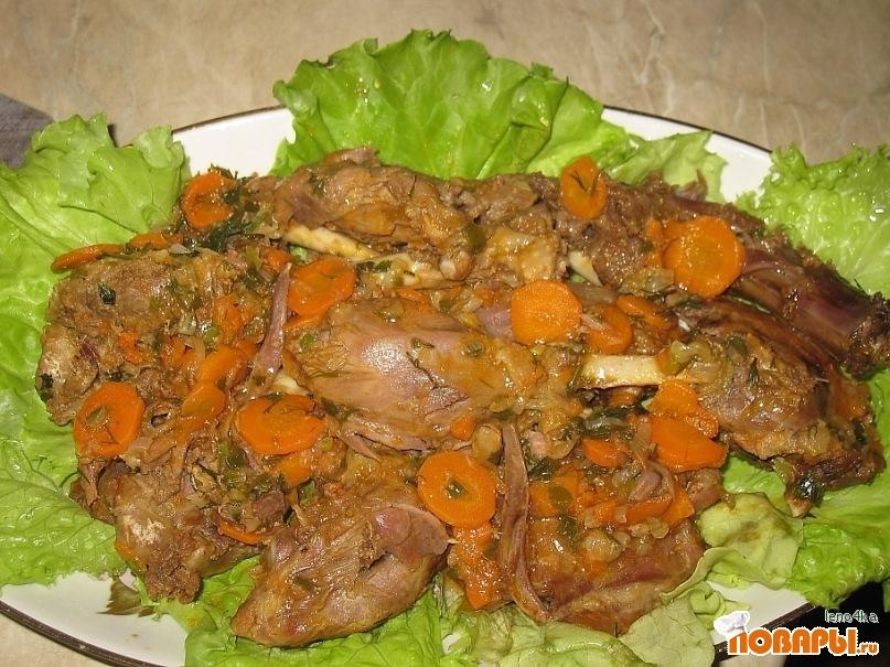 Рецепт Гусь, тушеный с овощами