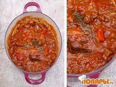 Рецепт Говяжий язык в томатном соусе