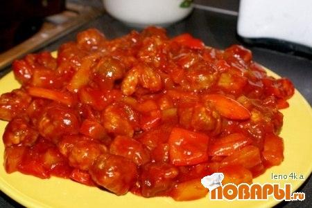 Рецепт Кисло-сладкий соус с ананасами