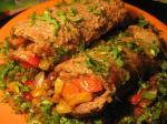 Рулеты из говядины с овощами