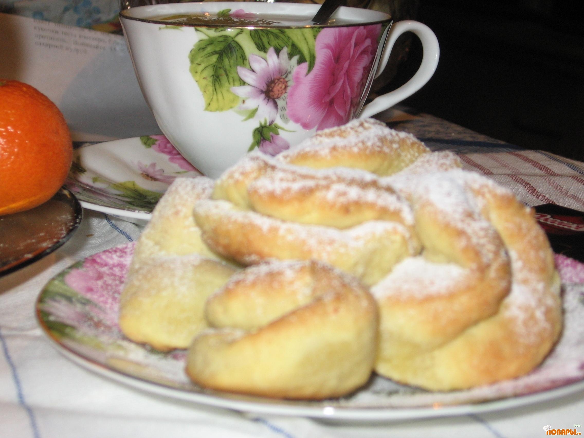 Рецепт Печенье творожное без сахара