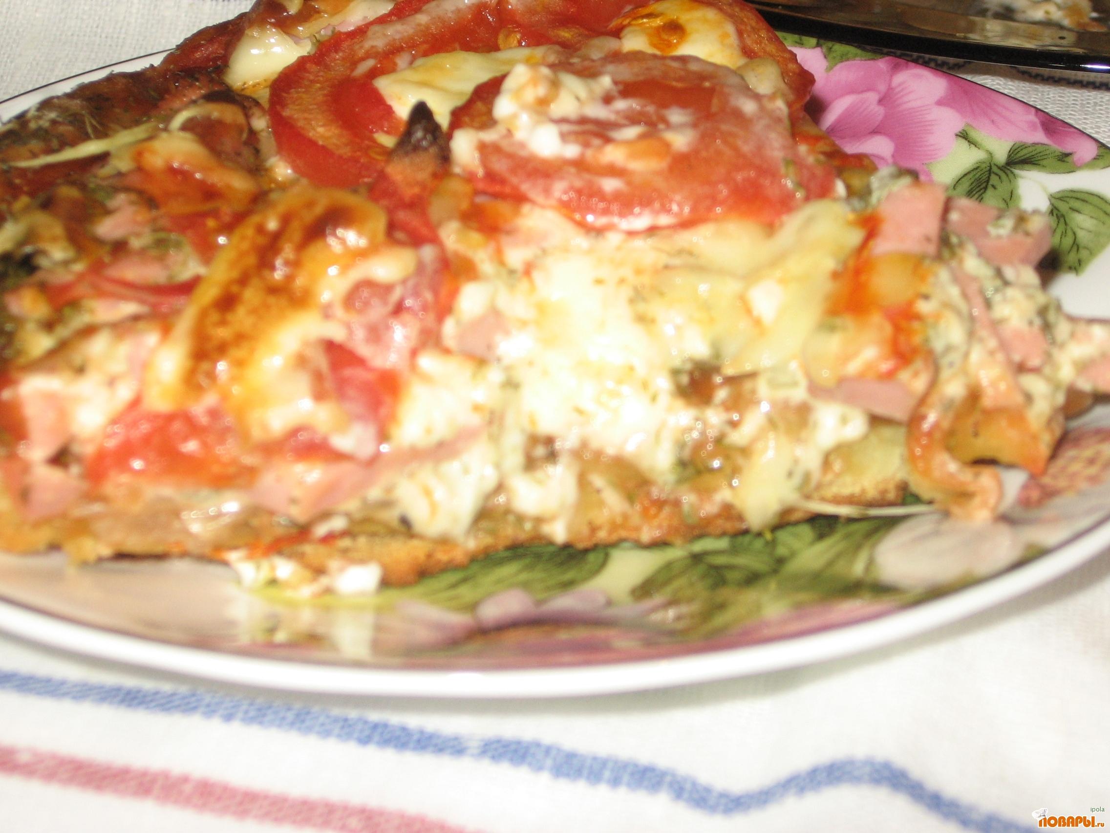 Рецепт Пицца из бездрожжевого теста