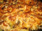 Курица с нрибами, заппечённая с сыром