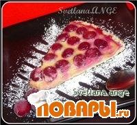 Рецепт Пирог открытый с вишней и миндальным кремом