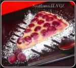 Пирог открытый с вишней и миндальным кремом