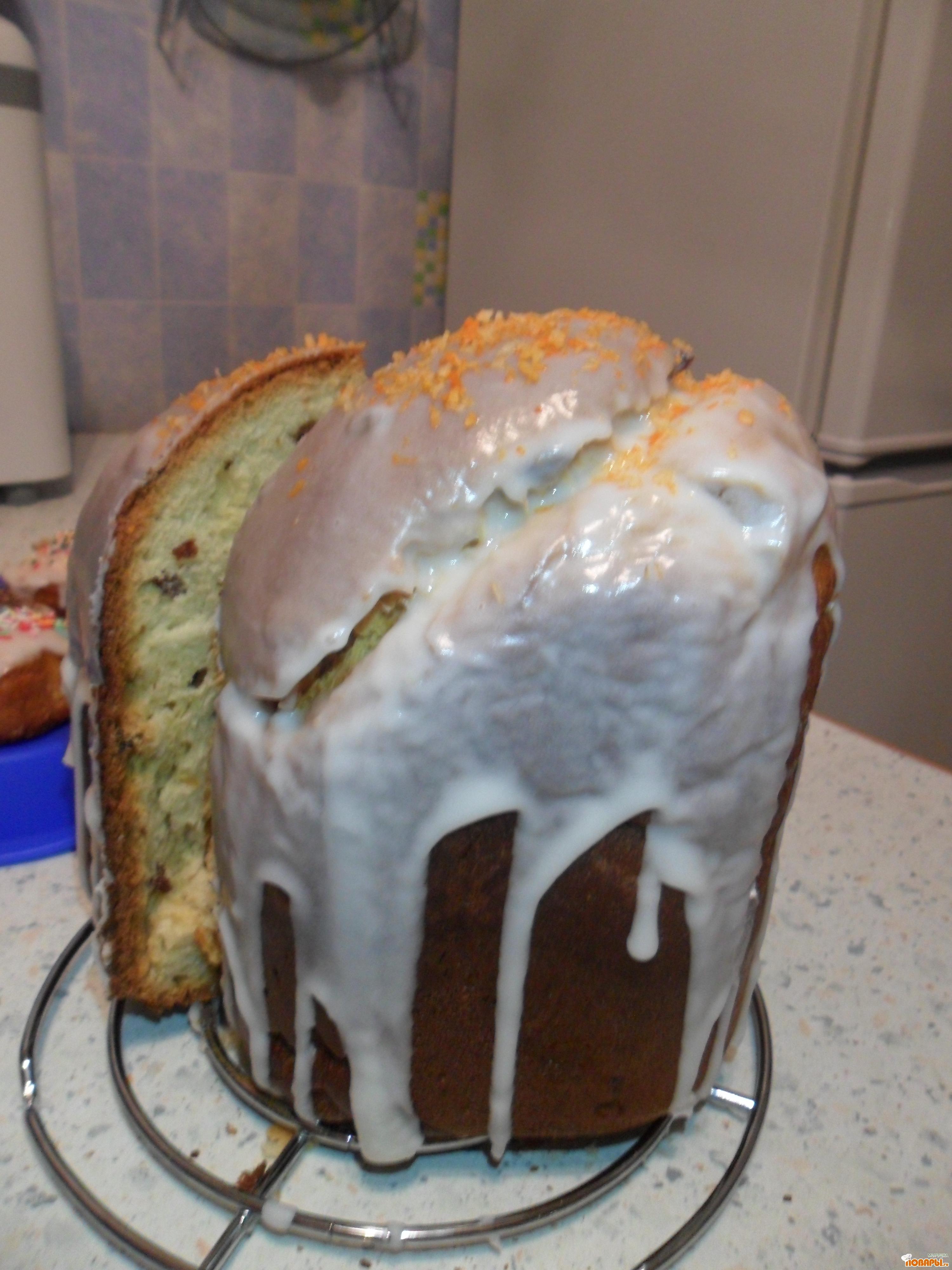 Рецепт Кулич в хлебопечке. В глазури.