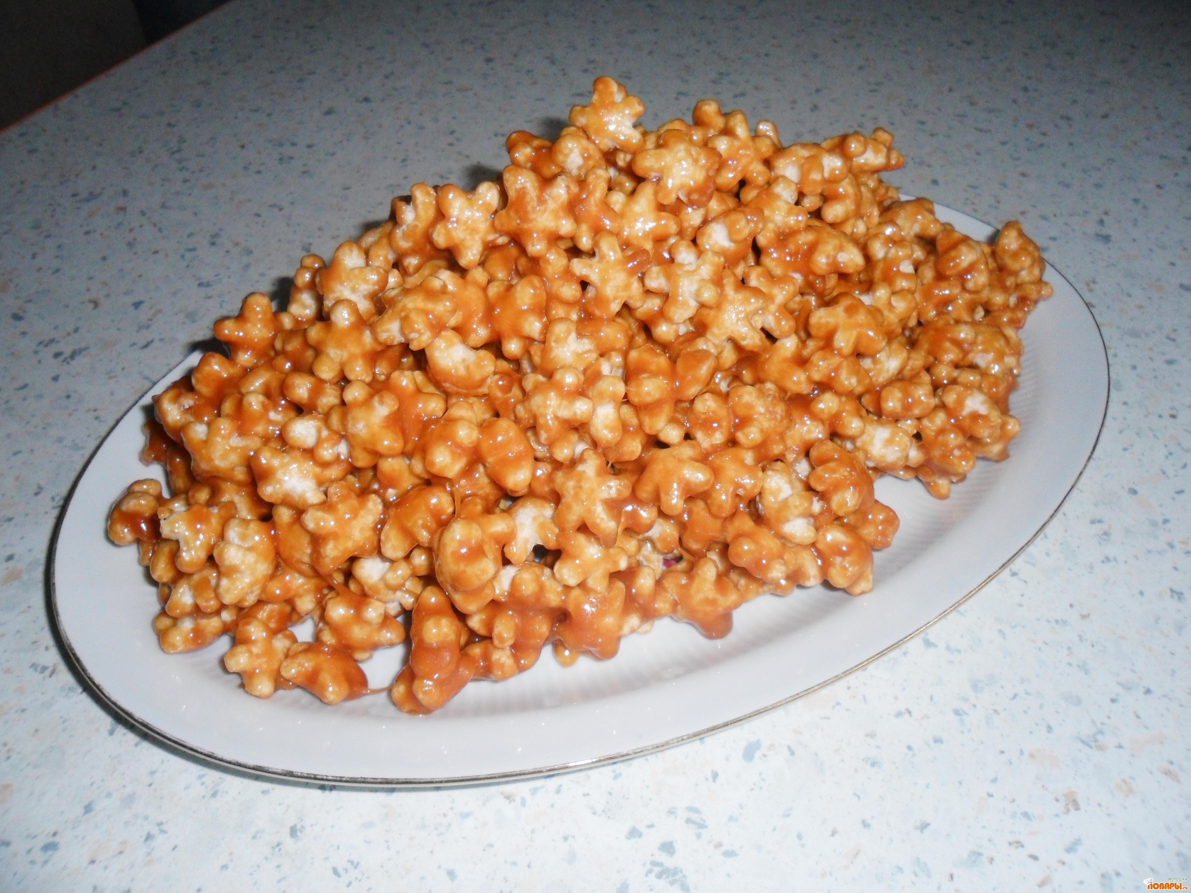 Рецепт Кукурузные палочки в ирисках.Десерт моего детства!