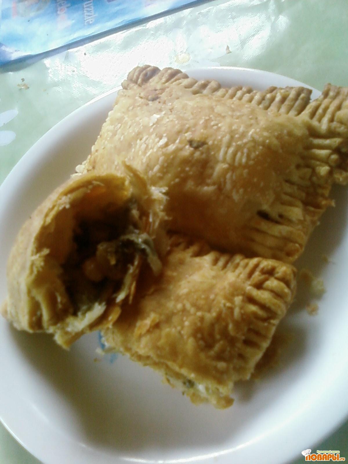 Рецепт Слоеные пирожки с начинкой из щавеля и...