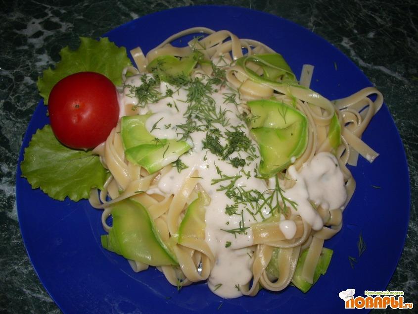 Рецепт Паста с кабачками