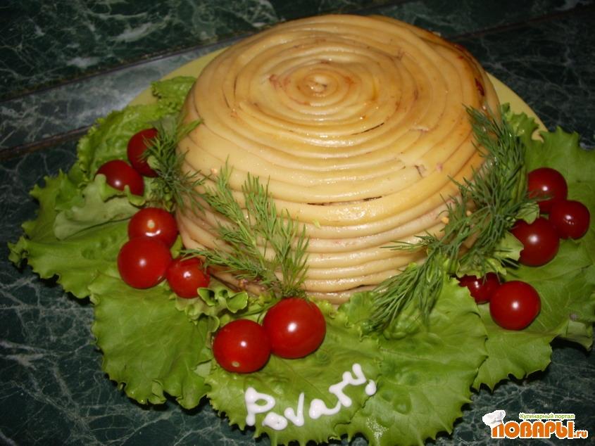 Рецепт Тимбаль мясной с шампиньонами