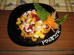 Салат мясной с тыквой