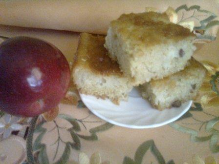 Рецепт Манник с яблоками и изюмом