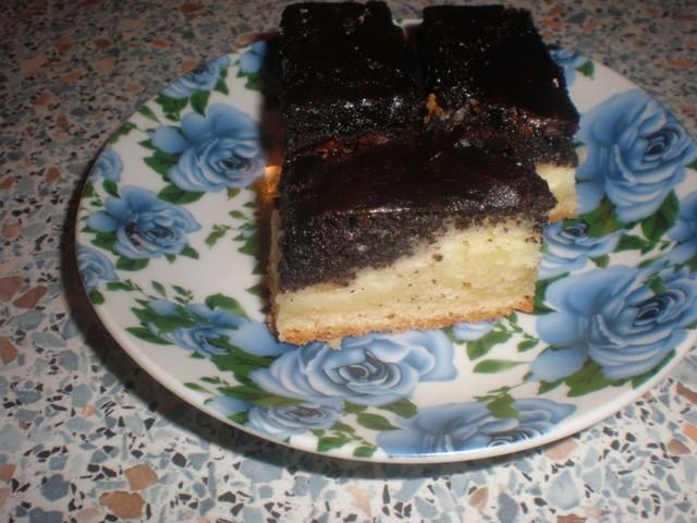 Рецепт Пирог с маком и творогом