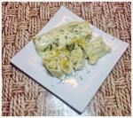 Канеллони с курицей и соус